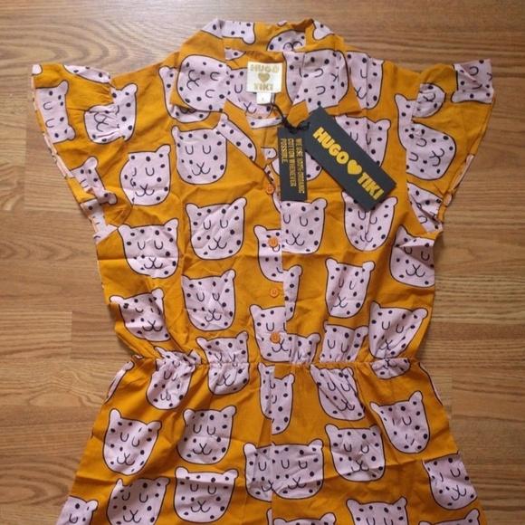 d3b7a8e8760 Hugo Heart Tiki Romper Leopard 100% Organic Cotton